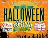 Promotional graphic for the Day Time Halloween Party presented by DW Publishing, Comickaze - Liberty Station, NTC Arts & Culture District, and San Diego Comic Art Gallery