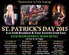 Promotional graphic for St. Patrick's Day at Dublin Square Irish Pub & Grill.
