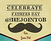 Promotional graphic for Father's Day at The Joint