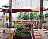 Promotional photo of the garden patio at Kitchen 4140