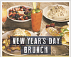 Promotional graphic for New Year's Day Brunch at OB Warehouse