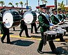 Promotional photo of a marching band for the Oceanside Independence Day Parade.