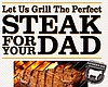 "Promotional graphic for Father's Day at 333 Pacific: ""Let Us Grill The Perfect Steak For Your Dad"""