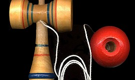 Promotional photo of a Kendama.