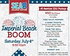 Promotional graphic for July 4th BBQ & Rooftop Fireworks at SEA180° at Pier South Resort in Imperial Beach.
