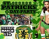 Promotional graphic for St. Patrick's Day Party at Gallagher's Irish Pub