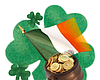 Promotional graphic for St. Patrick's Day At The Field Authentic Irish Pub & Restaurant.