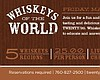 Promotional graphic for the Whiskey Tasting Event at Twenty/20 at the Sheraton Carlsbad Resort & Spa.