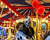 Promotional photo of a scary clown at Belmont Park for Carnies, Clowns, & Merry Go Rounds. Courtesy of WaveHouse San Diego