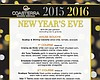 Promotional graphic for Coasterra's New Year's Eve dinner.