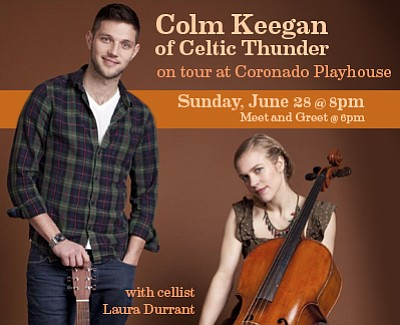 Colm keegan of celtic thunder on tour with laura durrant june 28 promotional photo of colm keegan of celtic thunder on t m4hsunfo
