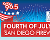 Promotional graphic for the KyXy 96.5 Fourth Of July 2015 Fireworks celebration.