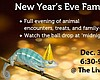 Promotional graphic for the New Year's Eve Family Party at Living Coast Discovery Center.
