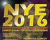 Promotional graphic for New Year's Eve at The Comedy Palace.
