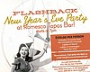 Promotional graphic for Romesco's Flashback New Year's Eve Party.