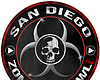 Promotional graphic for the San Diego Zombie Crawl taking place in the Gaslamp Quarter.
