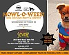 Promotional graphic for Howl-O-Ween Spooktacular at Savoie Eatery.