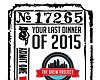 Promotional graphic for the Brew Project's New Year's Eve Dinner.
