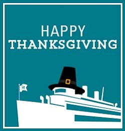 Promotional graphic for the Thanksgiving Dinner Cruise.