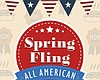 Promotional graphic for the Spring Fling event at First United Methodist Church for Mother's Day.