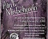 Promotional flyer for the Ain't Misbehavin' Burlesque Valentine's Day event at 98 Bottles.