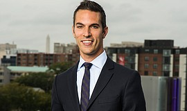"Promotional photo of Ari Shapiro, host of ""All Things Considered."" Courtesy of Stephen Voss for NPR"