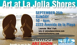 Promotional graphic for Art At La Jolla Shores. Courtesy of the Talmadge Art ...