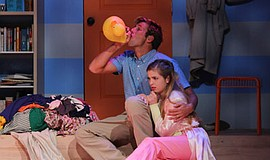 "Spencer Rodman as John, Julia Nardi-Loving as Helen in ""Baby With the Bathwat..."