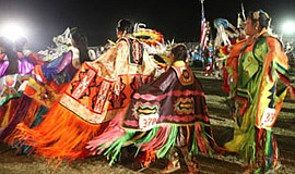 Promotional photo of dancers at the annual Barona Powwow. Courtesy of Barona ...