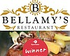 Promotional graphic for Bellamy's Restaurant, winner of the OpenTable 2015 Diners' Choice Awards.