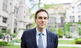 Promotional photo of Pulitzer Prize winning journalist Bret Stephens. He will...