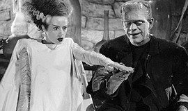 "A photo from ""Bride of Frankenstein."""
