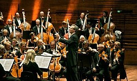 Photo of the Danish National Symphony Orchestra. Courtesy of La Jolla Music S...