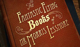 "Promotional graphic for ""The Fantastic Flying Books of Mr. Morris Lessmore,"" ..."
