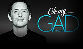 A promotional poster for the Oh My Gad comedy tour.