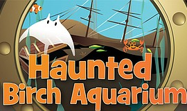 Promotional graphic for Haunted Birch Aquarium