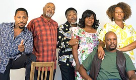 "A photo of the cast of ""King Hedley II,"" courtesy of Cygnet Theatre."