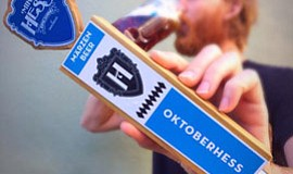 Promotional photo for OKTOBERHESS. Courtesy of Mike Hess Brewing