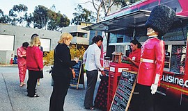 Promotional photo of the God Save the Cuisine truck for Foodie Fridays at La ...