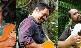 Promotional photo of Masters Of Hawaiian Music musicians.