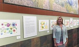 "Photo of the exhibition, ""The Chrysanthemum Lesson"" by Mission Bay Montessori..."