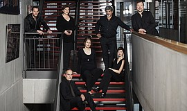 Promotional photo of Neue Vocalsolisten. Courtesy of neuevocalsolisten.de. Al...