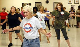 OASIS Zumba, one of many classes and activities offered. Courtesy of the Union Tribune.