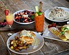 Promotional photo of brunch at OB Warehouse world food + bar