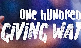 A poster for One Hundred Giving Way dance performance.
