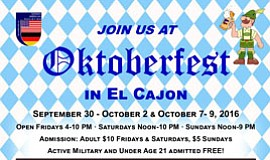 Promotional photo for El Cajon Oktoberfest.