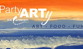 Promotional graphic for PartyARTy for ArtReach.