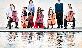 Promotional photo of the Portland Cello Project.