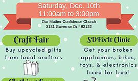 Promotional graphic for the Winter Reuse And Repair Fair.