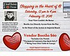 Promotional flyer for Shopping In The Heart Of IB charity event on Feb. 13, 2016 from noon-4 p.m. Courtesy of San Diego Small Business Forum.